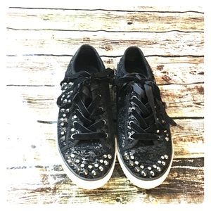 ASH Glitter Studded Sneakers